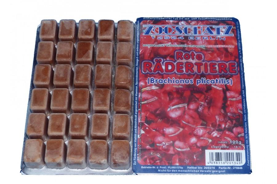 Rote Rädertierchen Frostfutter 100g Blister
