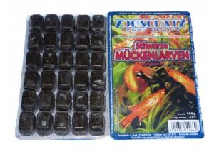 Schwarze Mückenlarven Frostfutter 100g Blister